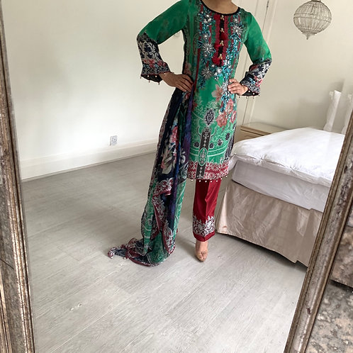THREE PIECE SILK OUTFIT