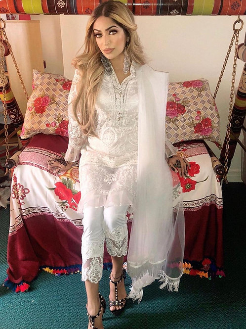 PRE ORDER WHITE ORGANZA OUTFIT