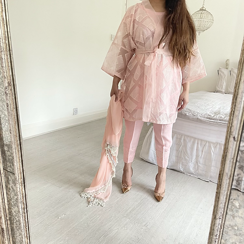 THREE PIECE LUXE ORGANZA OUTFIT