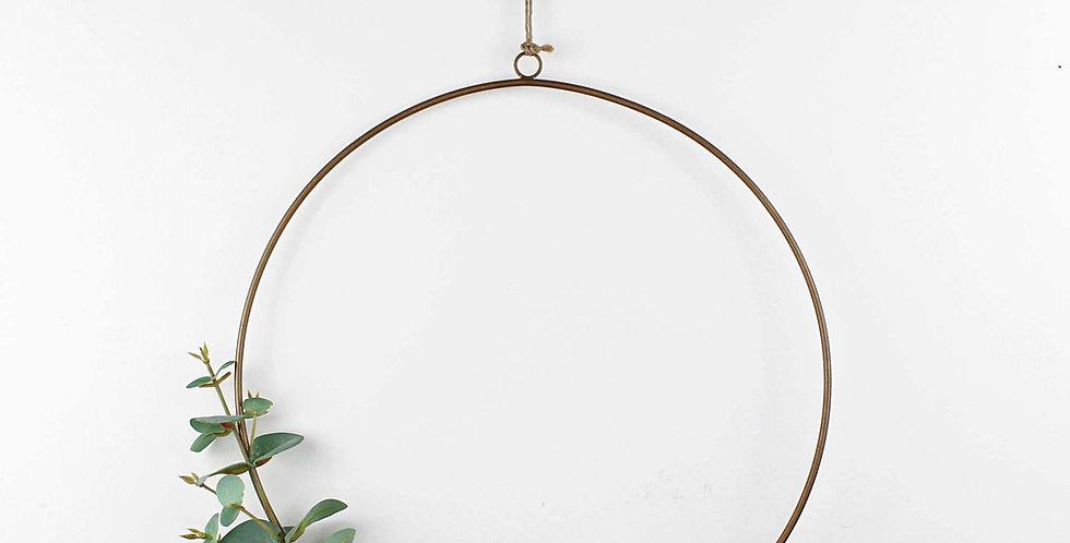 Grey Green Faux Eucalyptus Ring Wreath