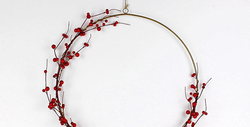 Faux Red Berry Ring Wreath