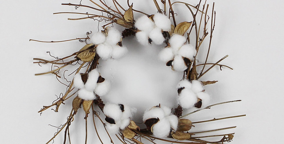 Small Cotton and Twig Wreath