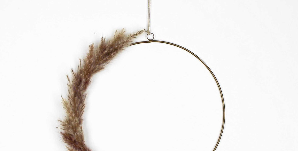 Natural Pampas Grass Ring Wreath