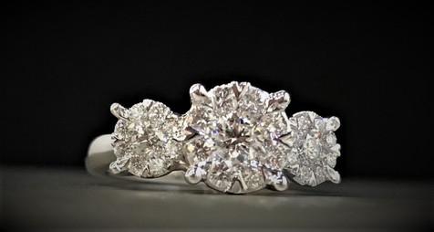 White Gold Diamond Lovebright Engagement Ring