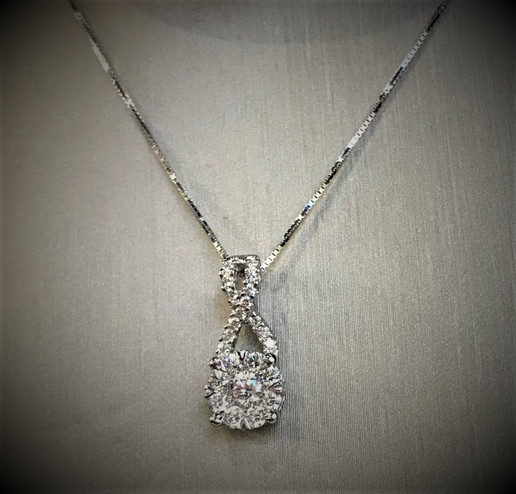 White Gold and Diamond Lovebright Necklace