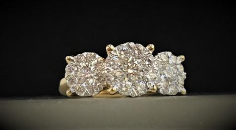 Yellow Gold Diamond Lovebright Engagement Ring
