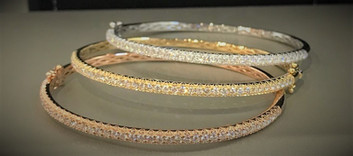 Stackable Diamond Bangle Bracelet