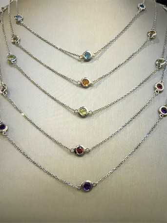 Sterling Silver Birthstone Necklaces