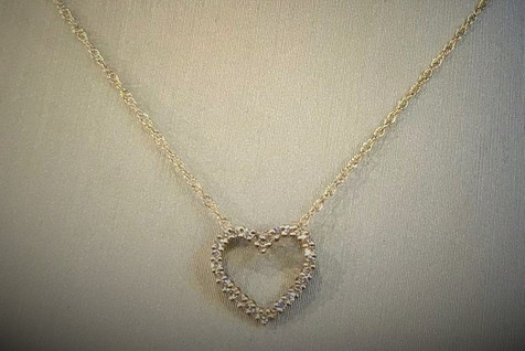 YG Diamond Heart Necklace