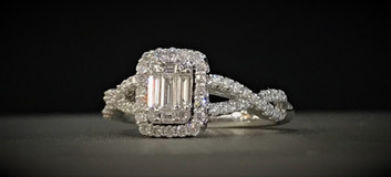 White Gold and Diamond Fusion Ring