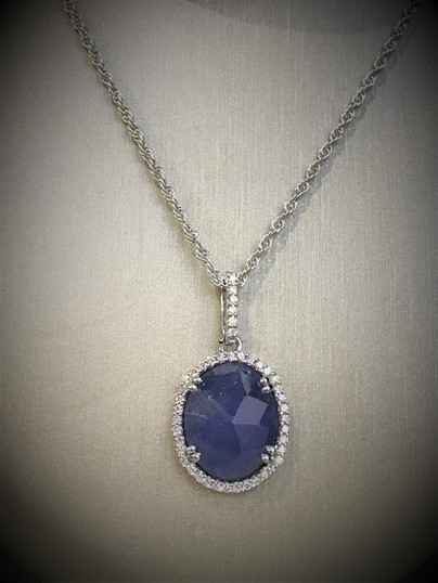 Tanzanite Necklace with Diamonds