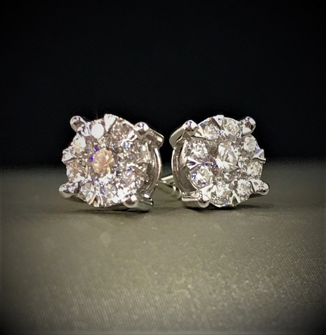 White Gold and Diamond Lovebright Earrings