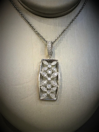 Sterling Silver and CZ Necklace