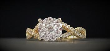 Yellow Gold Diamond Engagement Ring