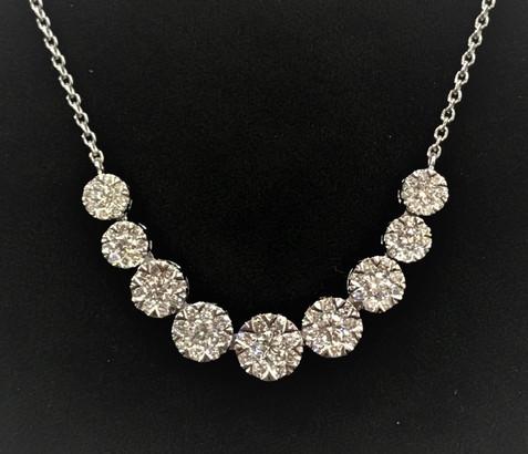 White Gold Lovebright Diamond Necklace