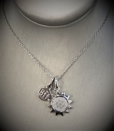 Sterling Silver Best Friends Forever Necklace