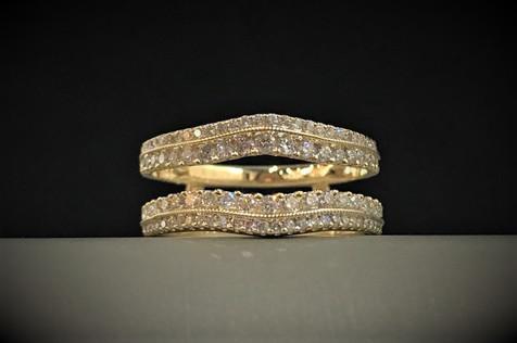 Yellow Gold and Diamond Ring Insert