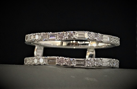 White Gold and Diamond Ring Insert