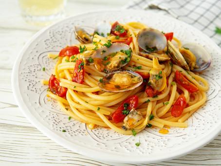 Spaghetti di semola alle vongole