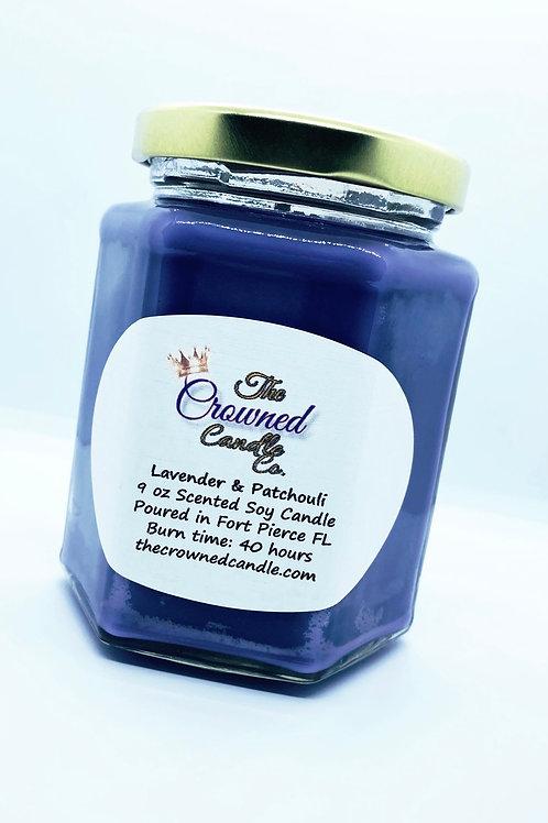 Lavender & Patchouli Soy Candle