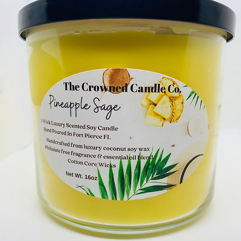 Pineapple Sage 3 Wick Candle