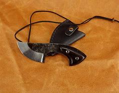couteau pliant poche guillochage randonnée fait main artisan