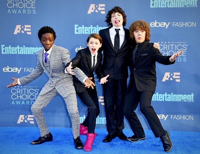 Cast from Stranger Things