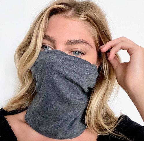 Convertible mask beanie - charcoal