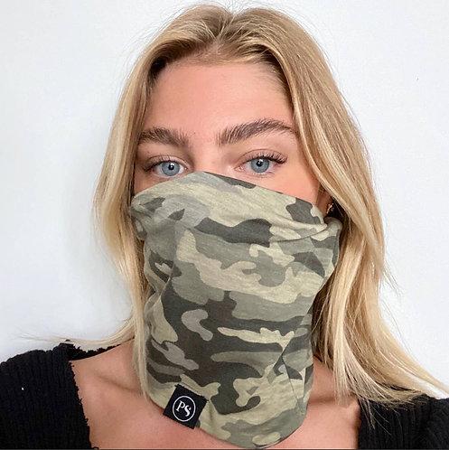 Camo print convertible mask beanie