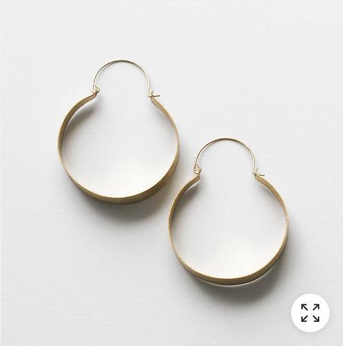 Brassy Statement Earrings