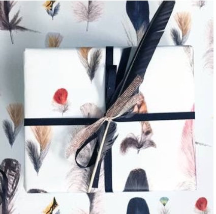 Gift Wrapping - Feather Wrapping Paper