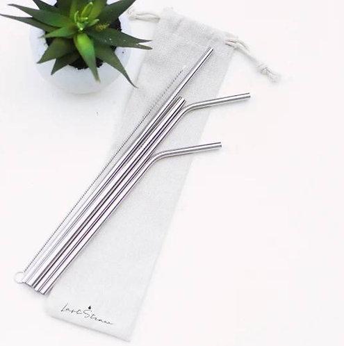 Metal Straws - Silver (Set of 6)