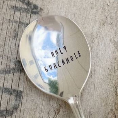 Holy Guacamole Round Spoon