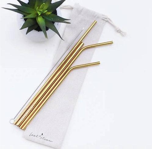Metal Straws - Gold (Set of 6)