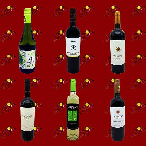 MIX SÜDAMERIKA, Inhalt, Sparpaket mit südamerikanischen Weinen, erhältlich bei VINOS LATINOS