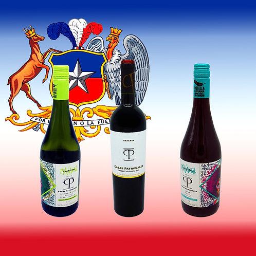 MIX CHILE, Sparpaket mit chilenischen Weinen, Inhalt, erhältlich bei VINOS LATINOS