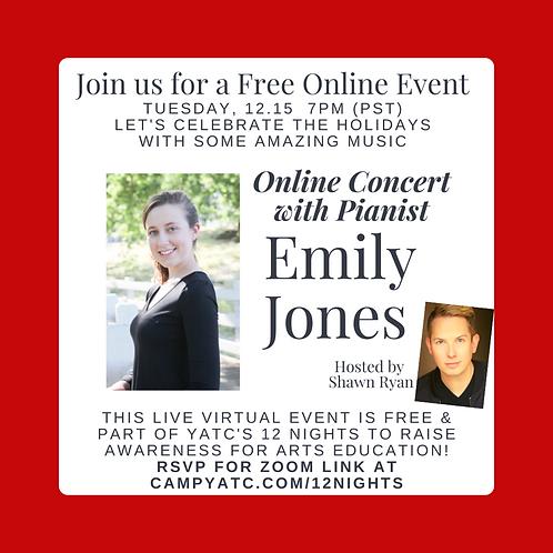 Piano Concert with Emily Jones