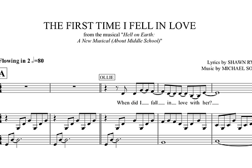 The First Time I Fell in Love- Tracks and Sheet Music