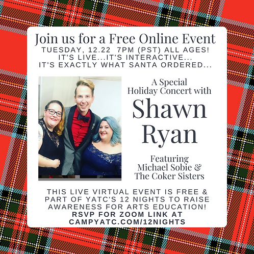 Holiday Concert with Shawn Ryan, Michael Sobie, and the Coker Sisters