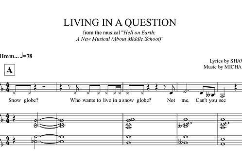 Living in a Question Tracks and Sheet Music