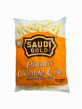 Saudi  Gold Potato Crinkle Cut 1KG