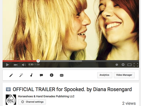 SPOOKED. book trailer!