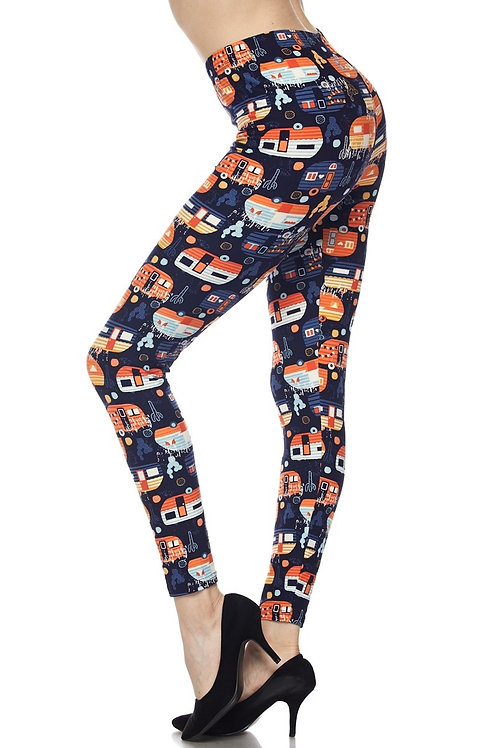 Camper Print Leggings various Sizes