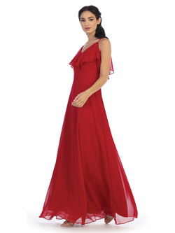 red Converter gown (look 2)
