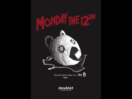 doublet が2021S/S Collectionを楽天のブランド支援プロジェクト「by R」で10/12(月)20時からライブ配信
