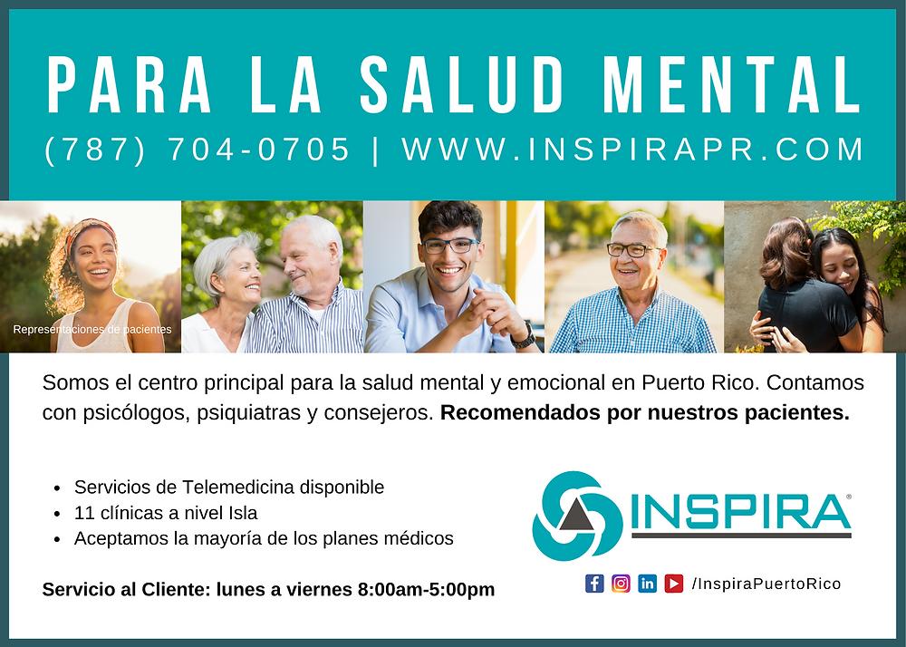 flyer con servicios de inspira