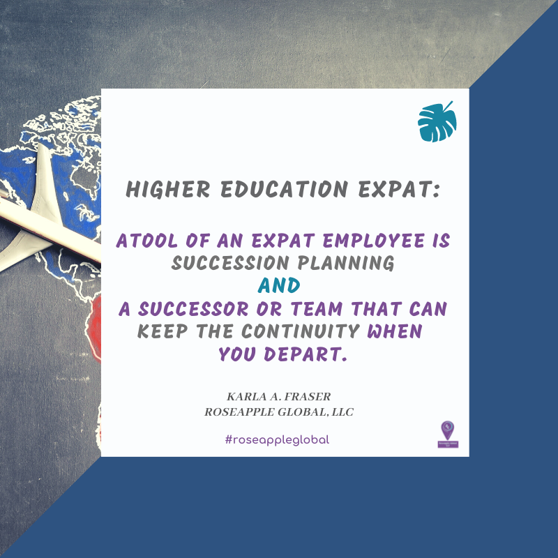 Quote higher education - succession planning from Roseapple Global