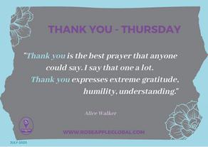 Thank You - Thursday: Birthday Edition