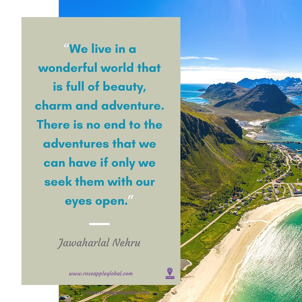 Jawaharlal Nehru Quote about Traveling
