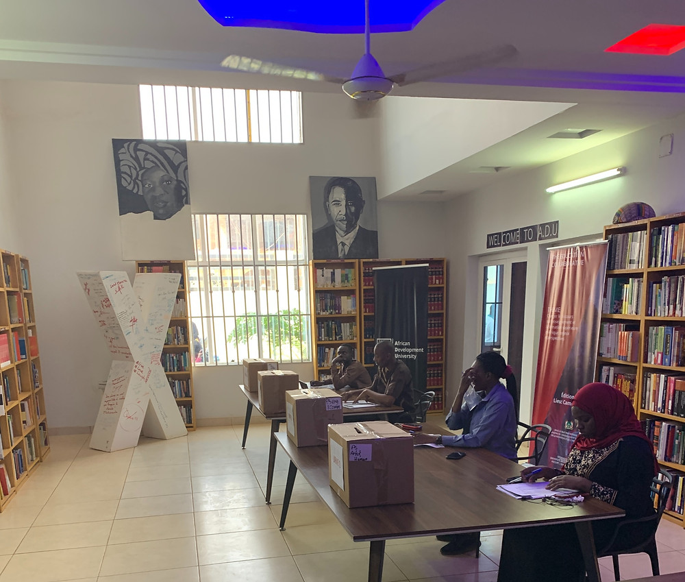 ADU Library - Converted into a polling station